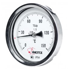 Термометр биметаллический ТБф-120 d.100 ОШ