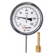 Термометр биметаллический ТБф-120 d.100 РШ