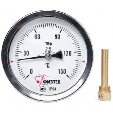 Термометр биметаллический осевой ТБф-120 d.80 ОШ