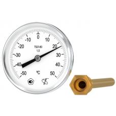 Термометр биметаллический ТБЛ-80